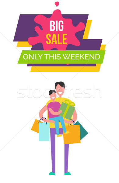 Big Sale Only This Weekend Vector Illustration Stock photo © robuart