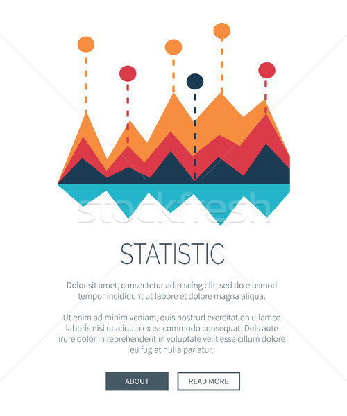 Statistic Representation with Colorful Bar Graph Stock photo © robuart