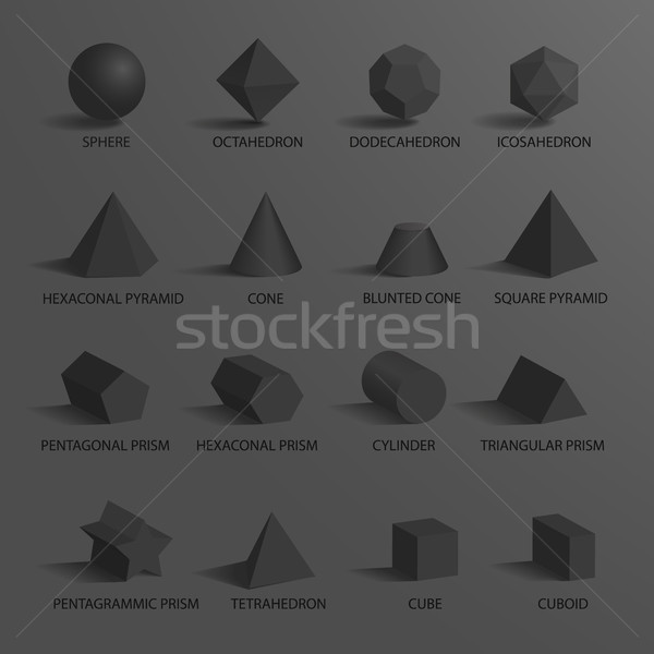 Sphere and Set of Shapes on Vector Illustration Stock photo © robuart