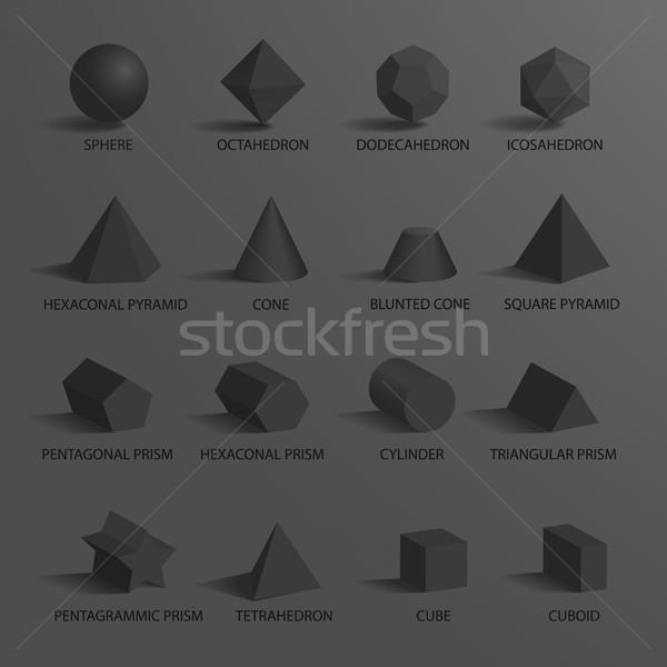 Küre ayarlamak diğer geometrik koni Stok fotoğraf © robuart
