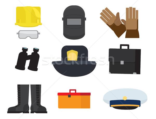 職業 保護眼鏡 ヘルメット 溶接 マスク ストックフォト © robuart
