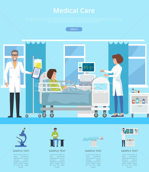Medical Care Hospital Review Vector Illustration Stock photo © robuart