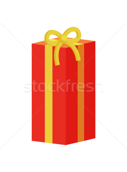 Present Gift Box Decorated by Ribbons with Bows Stock photo © robuart