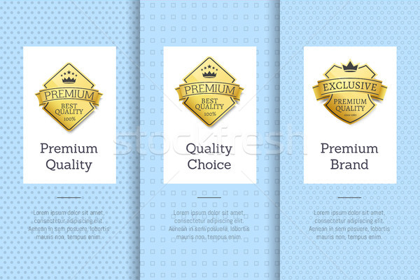 Premium Brand Quality Choice Gold Label Guarantee Stock photo © robuart