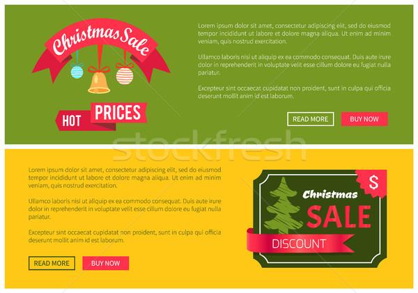 Prémium minőség forró ár karácsony vásár Stock fotó © robuart