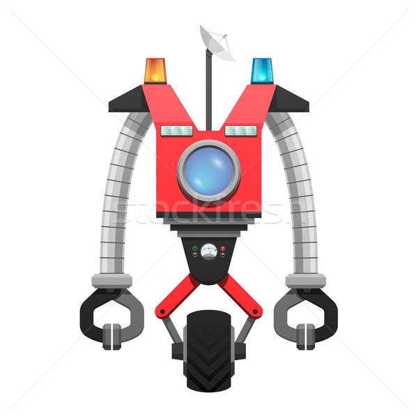 красный робота спутниковой экране иллюстрация вокруг Сток-фото © robuart