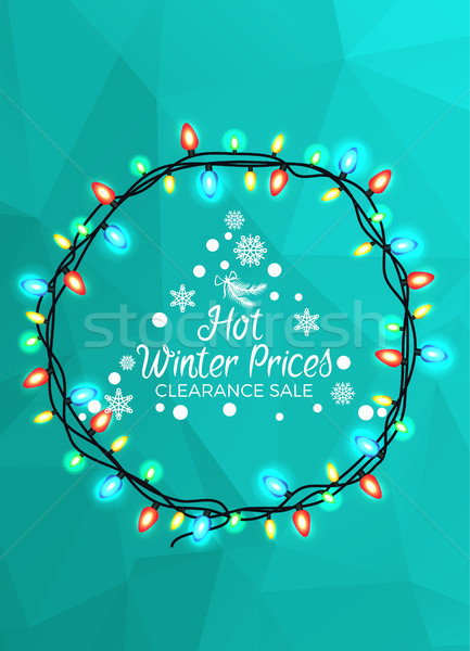Hot Winter Prices Clearance Sale Bright Poster Stock photo © robuart