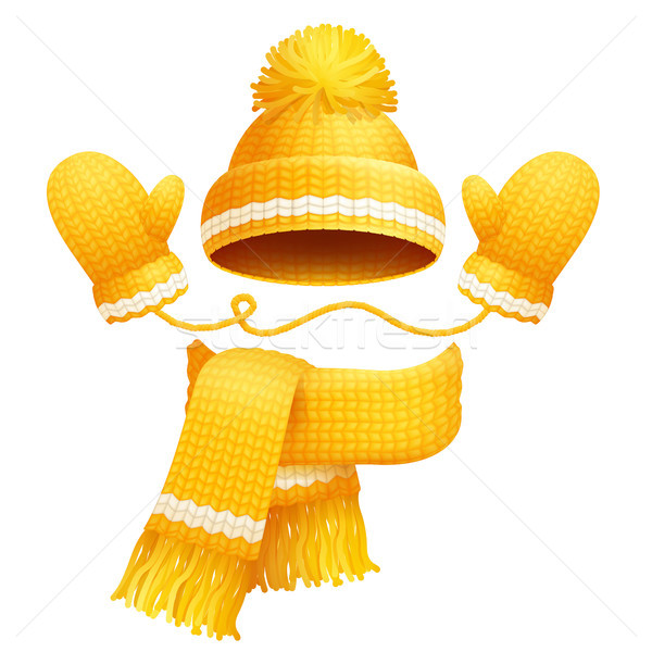 Cute Hat Scarf and Gloves Vector Illustration Stock photo © robuart