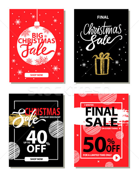Winter Sale on Everything on Vector Illustration Stock photo © robuart