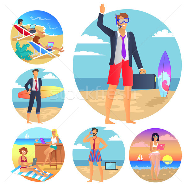 Business Summer Collection Vector Illustration Stock photo © robuart
