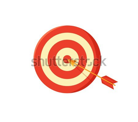 Target Board and Arrow Poster Vector Illustration Stock photo © robuart