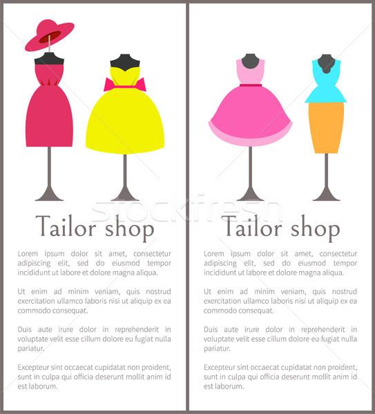 портной магазин коллекция Платья Сток-фото © robuart