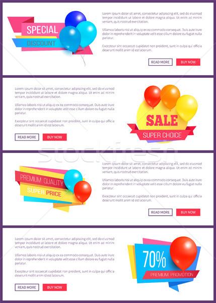 Especial desconto fim de semana venda o melhor balões Foto stock © robuart
