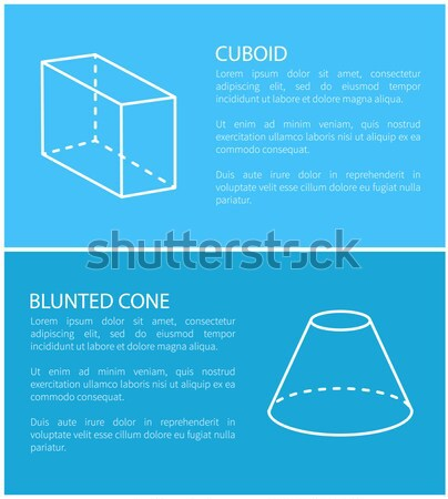 Cylinder and Triangular Prism Vector Illustration Stock photo © robuart