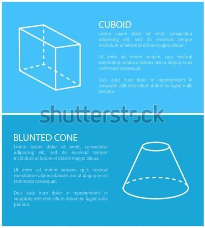 Cylindre prisme ensemble affiches texte Photo stock © robuart