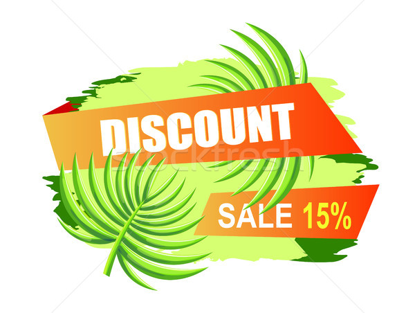 Discount with 15 Off Only at Summer Promo Poster Stock photo © robuart