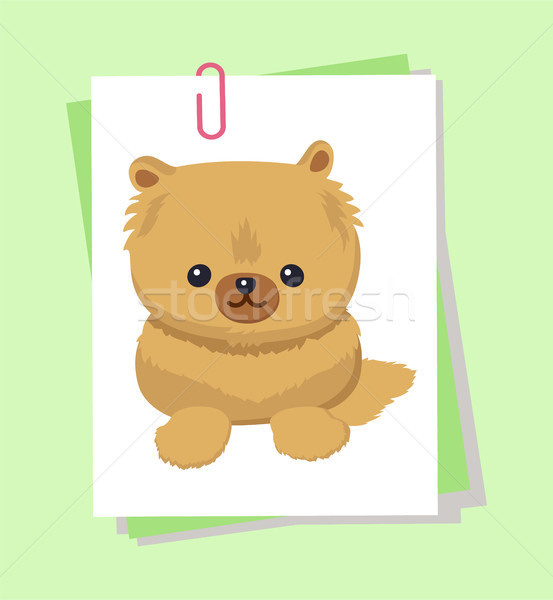 Anão quadro cartaz animal fofo pele Foto stock © robuart