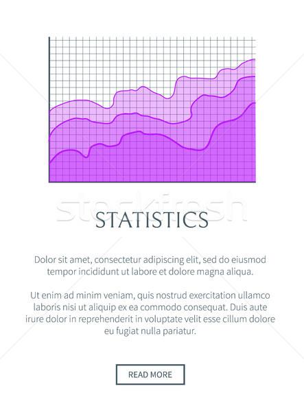 Statisztika növekvő diagram szöveg minta fehér Stock fotó © robuart