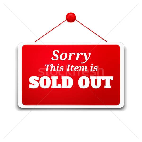 Compras signo bordo artículo vendido Foto stock © robuart