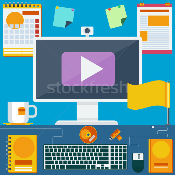 современных Creative служба workspace месте компьютер Сток-фото © robuart