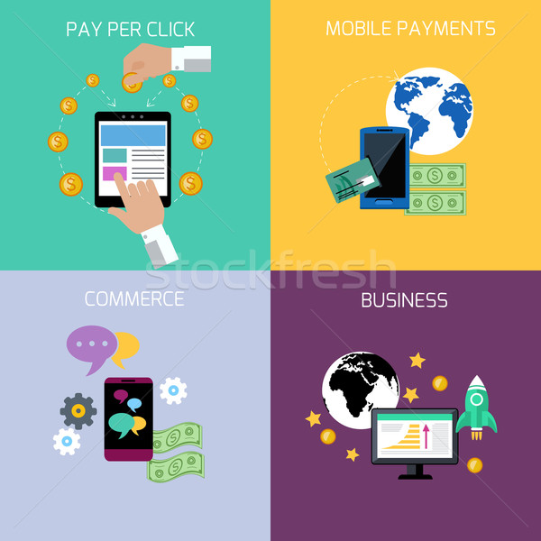 Stockfoto: Internet · business · betaling · iconen · ontwerp