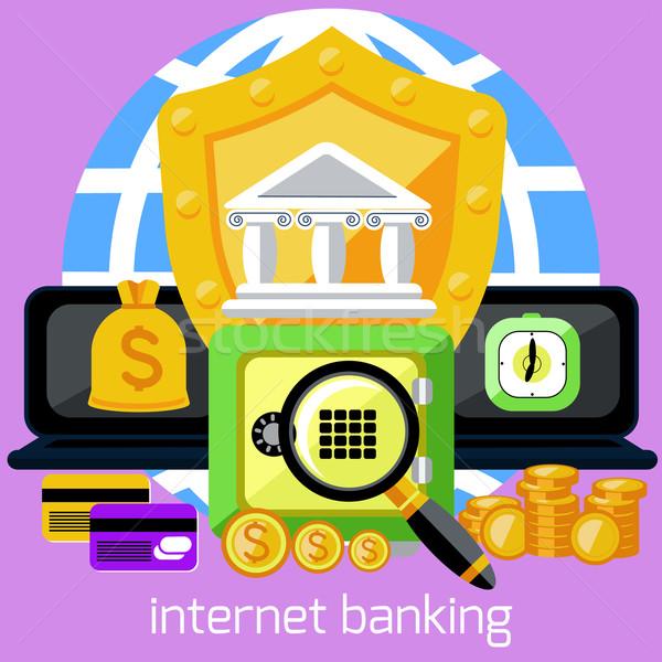 интернет банковской безопасности депозит бизнеса онлайн Сток-фото © robuart
