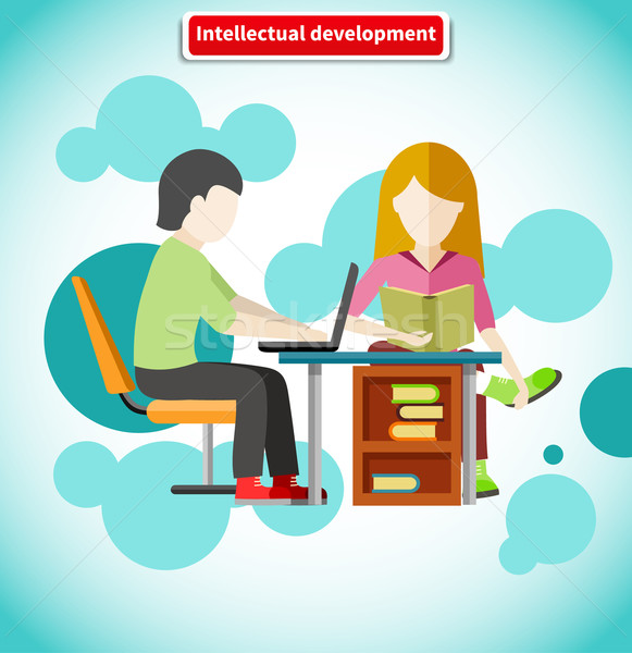 Intellectual Development Flat Design Concept Stock photo © robuart