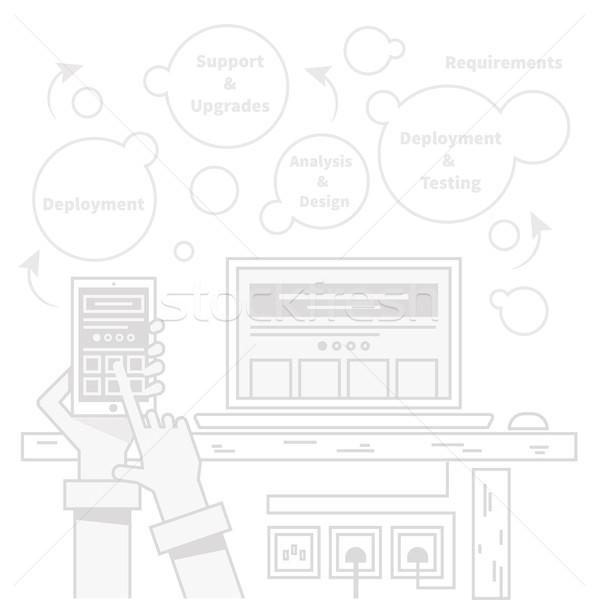 Smart home controle technologie mobiele Stockfoto © robuart