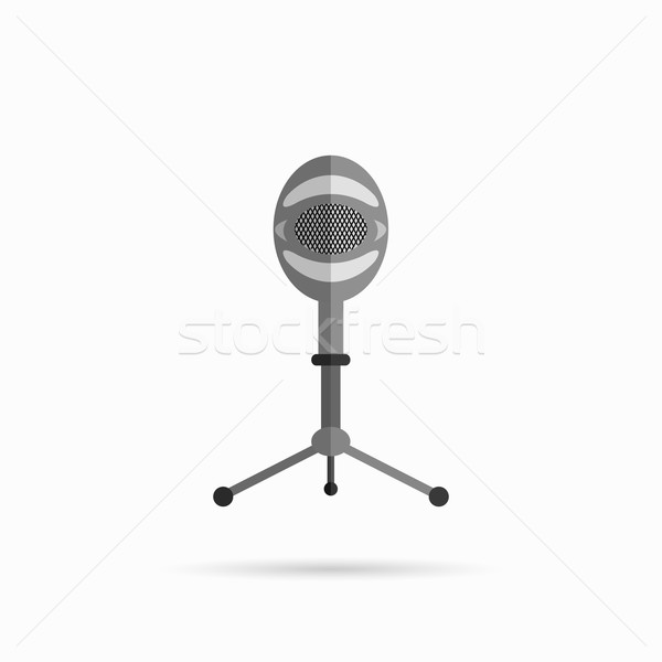 Microphone Design Flat Isolated Stock photo © robuart