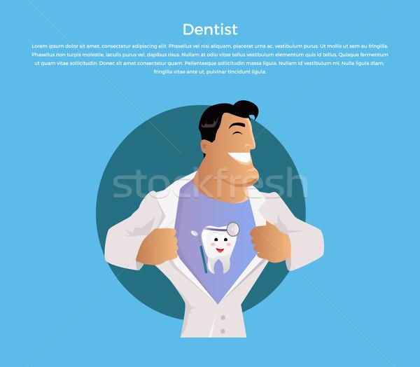 Foto d'archivio: Medico · dentista · carattere · design · verniciato · denti