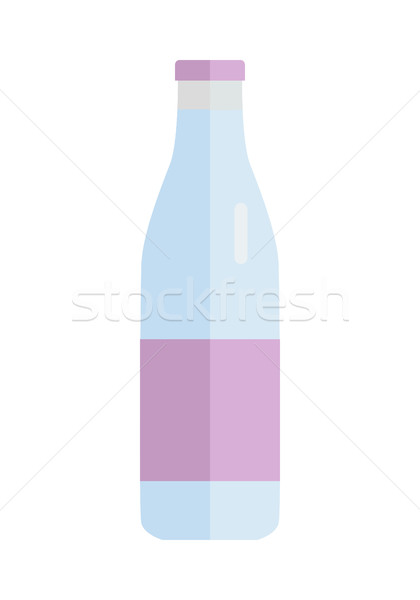 Bottle With Milk Products Vector in Flat Design.   Stock photo © robuart