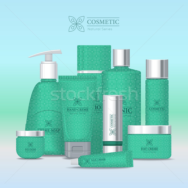 Natural Series Cosmetic Set Isolated. Vector Stock photo © robuart