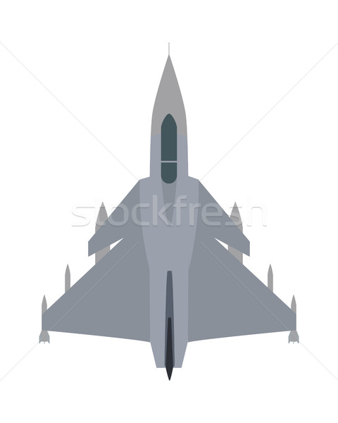 Military Airplane Isolated. Aircraft Plane Vector Stock photo © robuart