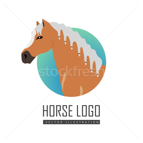 Horse Logo Vector Illustration in Flat Design Stock photo © robuart