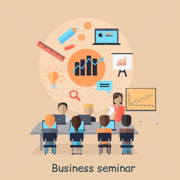 Negocios seminario motivacional nina nuevos dirección Foto stock © robuart