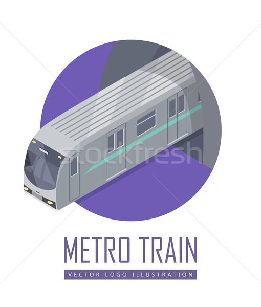 Snelheid trein vector icon isometrische projectie icon Stockfoto © robuart