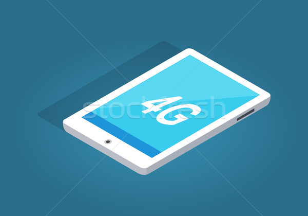 Modern White Tablet with 4G Function Illustration Stock photo © robuart