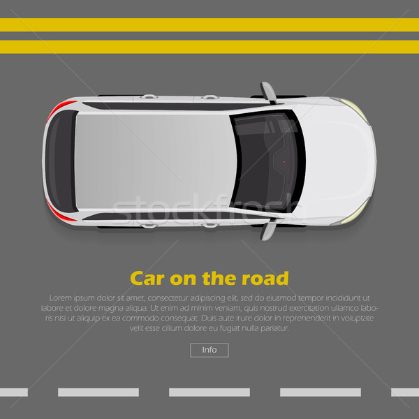 Car on Road Conceptual Flat Vector Web Banner  Stock photo © robuart