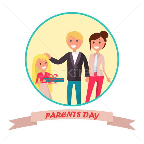 Pais dia bandeira colorido pai ou mãe Foto stock © robuart