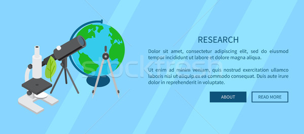 Research Template Banner with Scientific Tools Stock photo © robuart