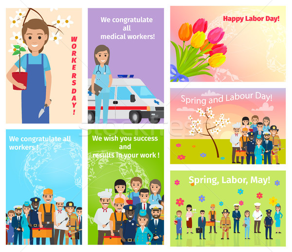 Spring Holiday Labour Day in May for All Workers Stock photo © robuart