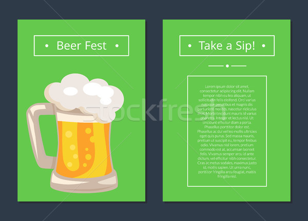 Beer Fest Collection of Posters with Full Mug Stock photo © robuart