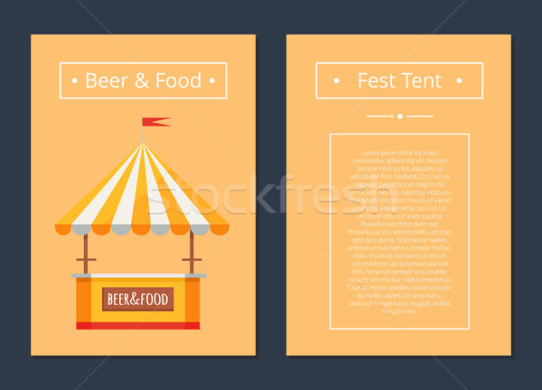 Fest Tent with Beer and Food Collection of Posters Stock photo © robuart