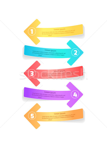 Multicolor Arrows for Infographic Posters Design Stock photo © robuart