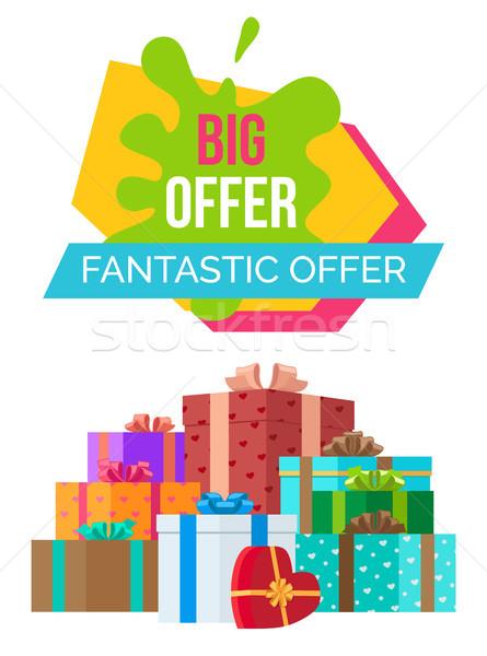 большой фантастический эксклюзивный продажи плакат скидка Сток-фото © robuart