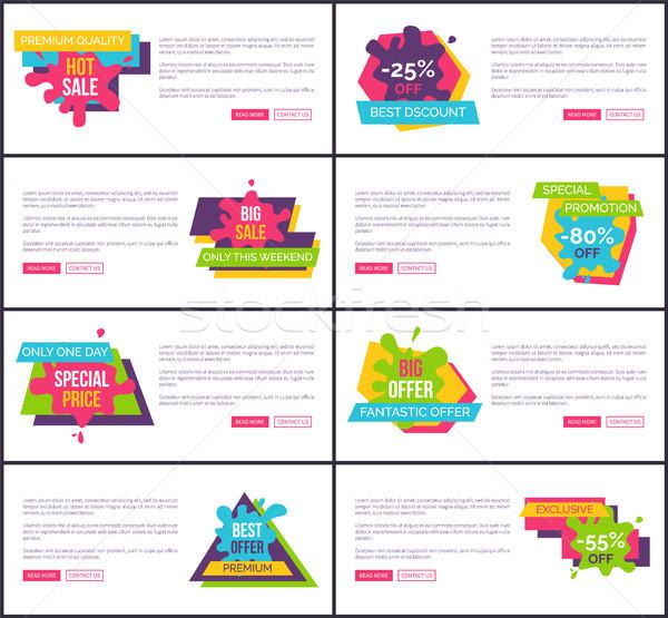 Fantástico oferecer venda internet página templates Foto stock © robuart