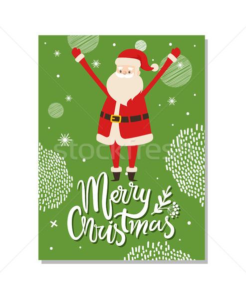 Vrolijk christmas briefkaart kerstman winter vakantie Stockfoto © robuart