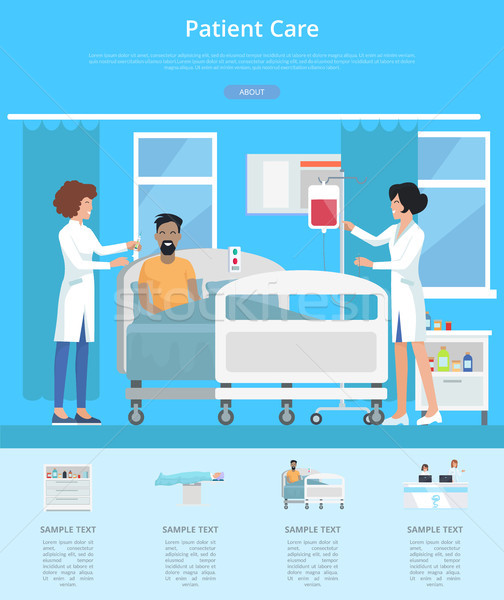 Patient Care Services Vector Illustration Stock photo © robuart