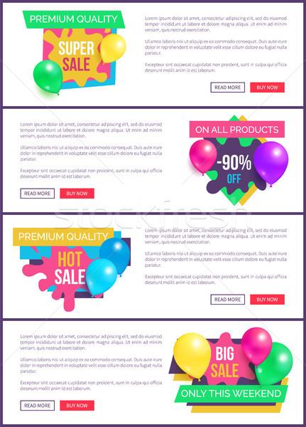 коллекция посадка продажи цены рекламный Сток-фото © robuart