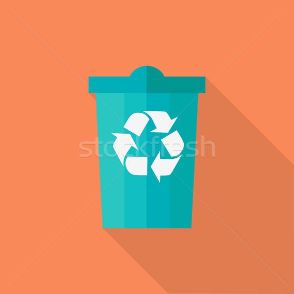 Trash Bin Vector Illustration in Flat Design.   Stock photo © robuart